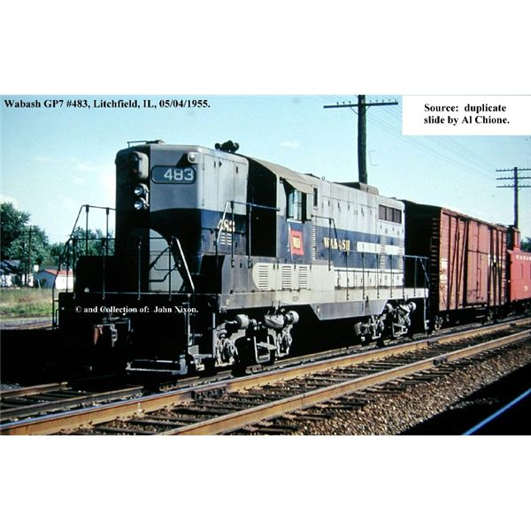 Typical GP 7 General Motors Loco from www.wabash-railroad.com and collection of John Nixon