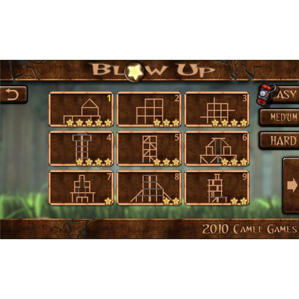 Blow Up For Android Level Select