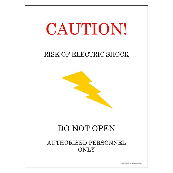 Caution Electric Shock Hazard
