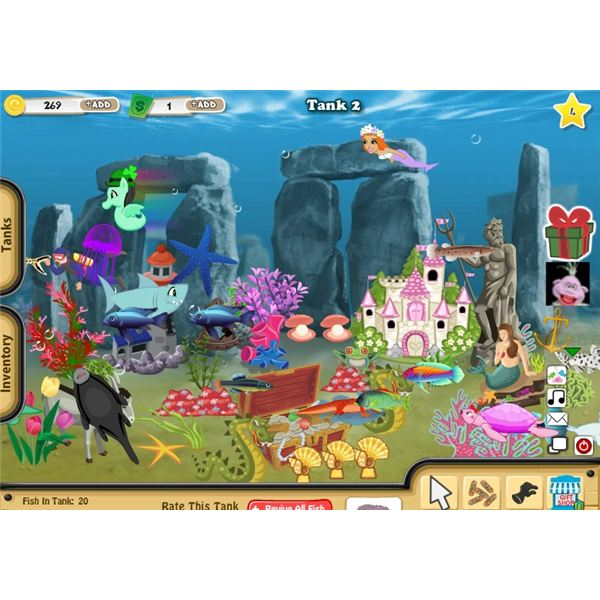 Top online fish aquarium games to play for Fish tank game