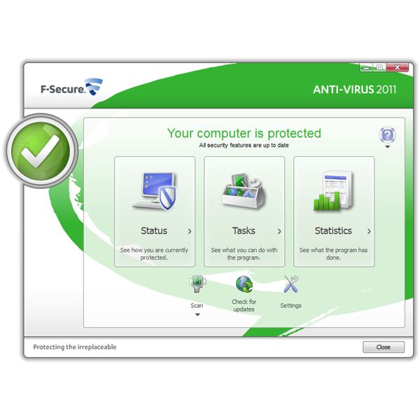 UI of F-Secure AV 2011