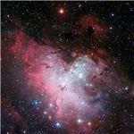 Three Color Composite Image of the Eagle Nebula
