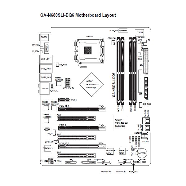 motherboard diagram wiring chart and connection guide basics rh brighthub com msi motherboard wiring diagram motherboard pin diagram