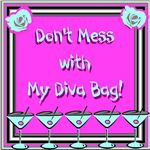 Show off your inner diva with this canvas bag template