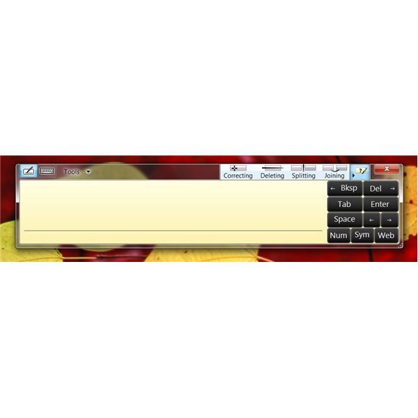 How to use Windows 7 touch screen features - Writing Pad