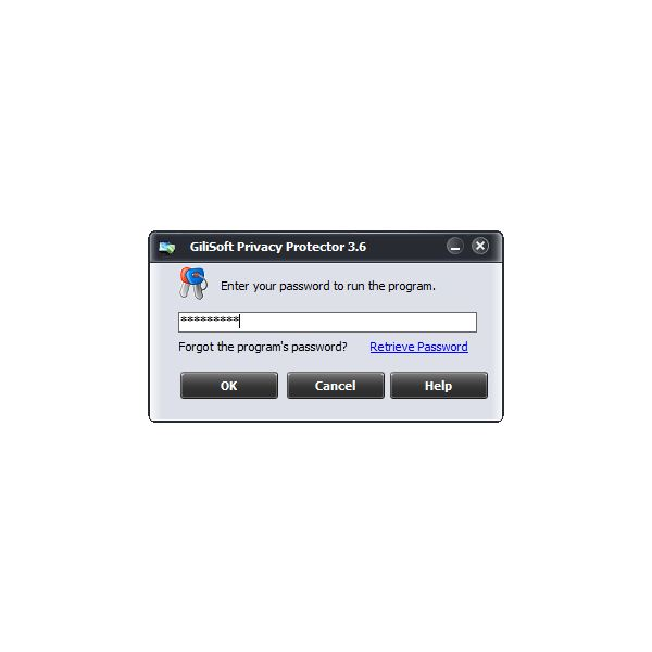 Gilisoft Privacy Protector requires you to configure a password when installing