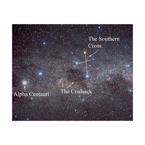 Alpha Centauri and the Southern Cross - Image courtesy of NASA
