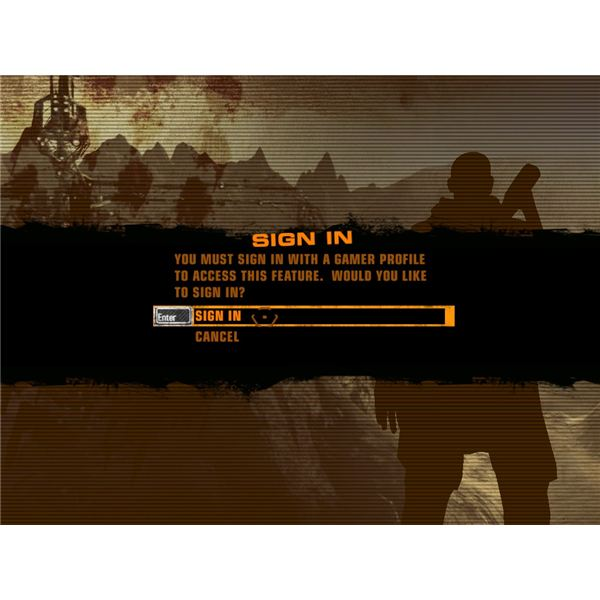 Sign in Red Faction
