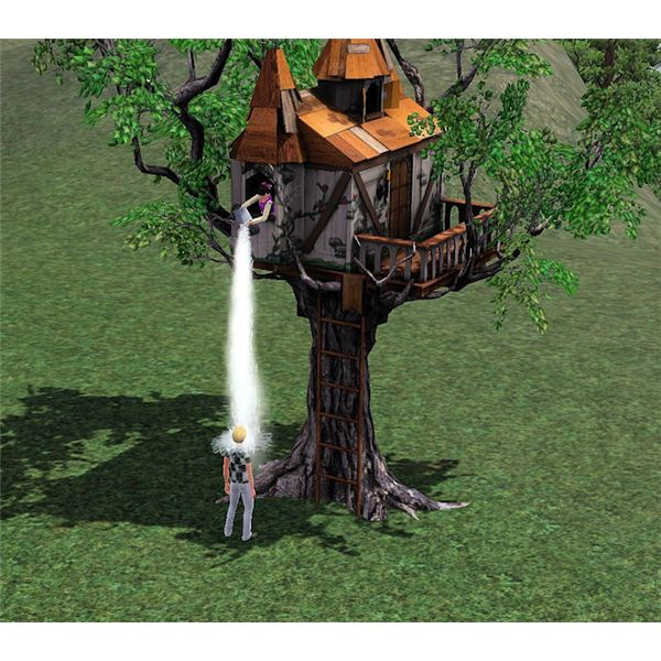 The Sims 3 prank tree house