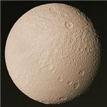 Tethys, moon of Saturn (NASA).