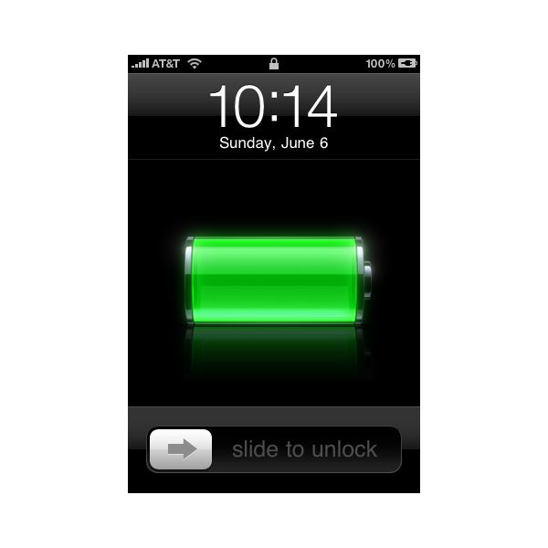 Iphone  Red Battery Screen