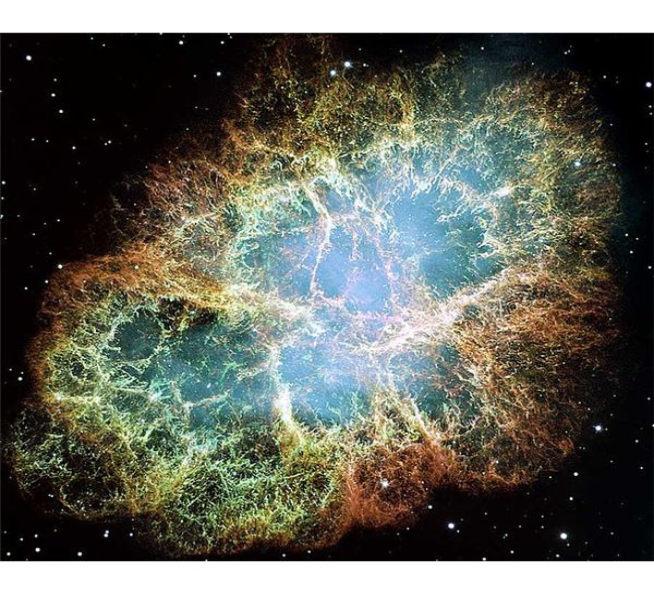 Supernova remnant, Crab Nebula (NASA).