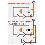 Flasher Circuit Using NOT Gates, Image