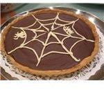 Chocolate Pie with Halloween Decorations