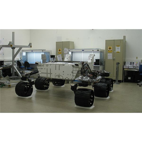 Mars Science Laboratory empty chassis