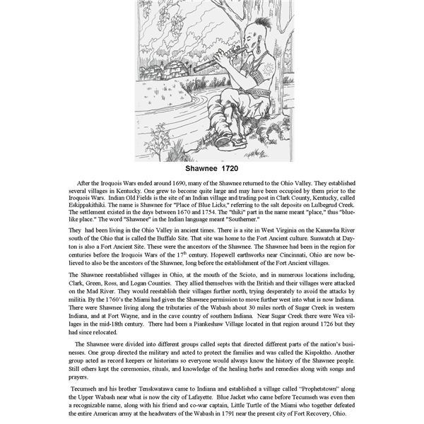 Woodland indian tribes lesson plan for grade school students shawnees 1720 publicscrutiny Image collections