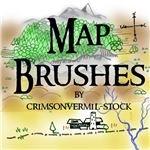 Map Symbols by crimsonvermil stock
