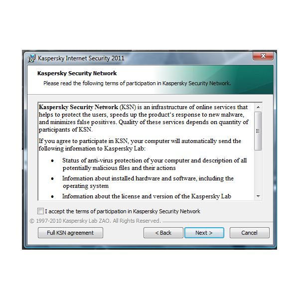 Kaspersky Internet Security 2011 review: Security Network