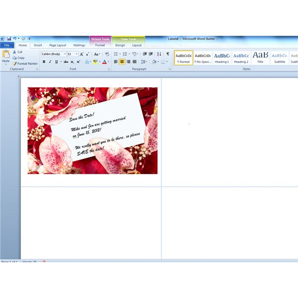 Designing Components Of Your Wedding Stationery Using Word