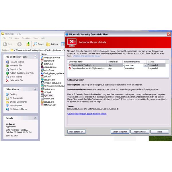 Free Real-time Protection of Microsoft Security Essentials