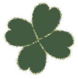 Four-Leaf Clover with Glitter Edges
