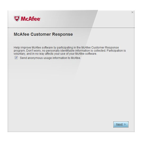 Optional McAfee Consumer Response Program