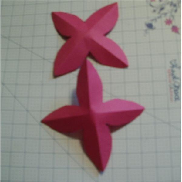 crease the petals