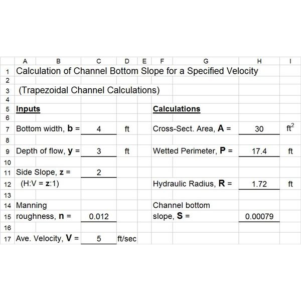 Excel Spreadsheet Calculations 3