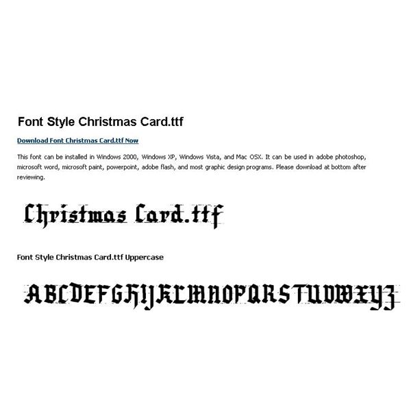 Free Christmas Fonts for Photoshop