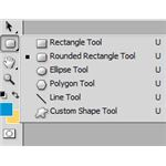 The location of the Rounded Rectangle Tool