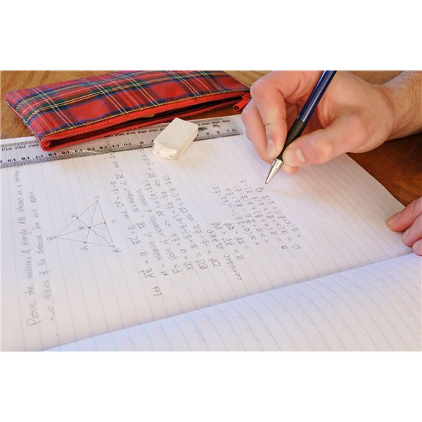 Math Homework (Image Credit: Wikimedia Commons)