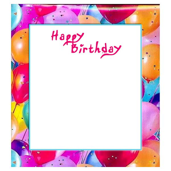 Free birthday borders for invitations and other birthday projects fun balloons birthday border stopboris Images