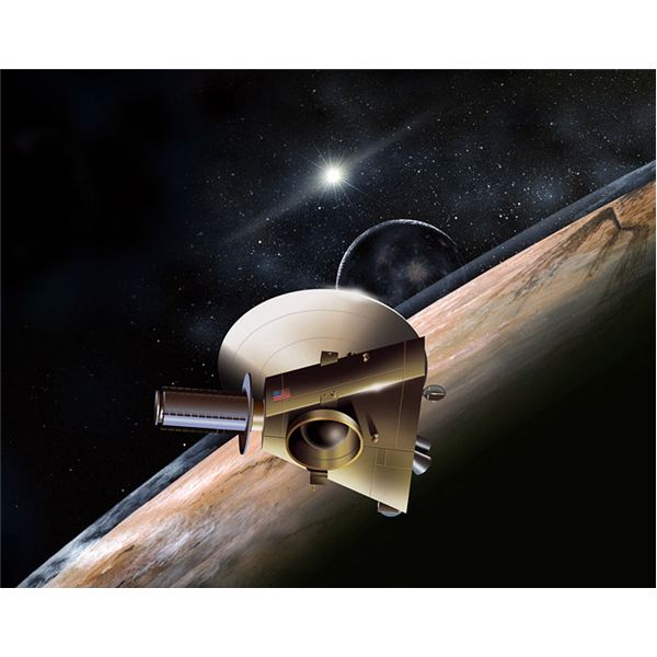 Artist's conception of New Horizons at Pluto