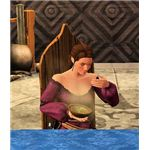The Sims Medieval eating food