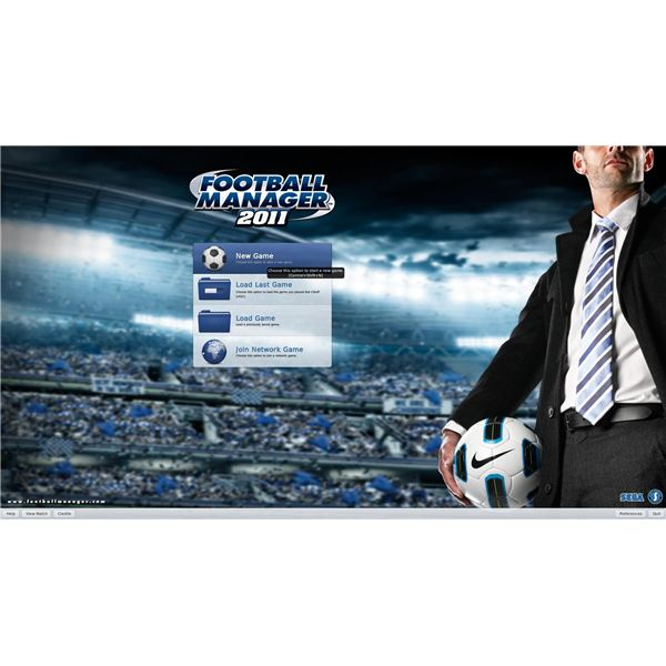 Football Manager 2011 Guide: Starting a New Game