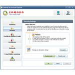 Fig 2 Comodo SecureMail - Encryption Settings