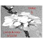 Wedding Table Number Wine Label