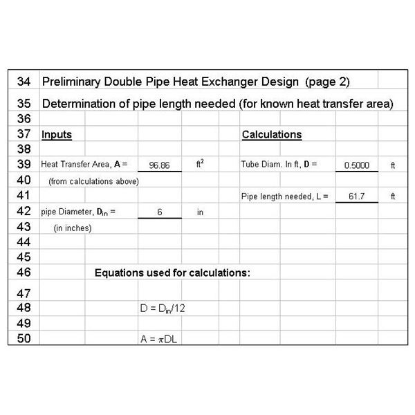 Excel Template for Double Pipe Heat Exchanger Design prelim p2 US units