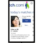 Match.com Windows Phone 7 Social Apps