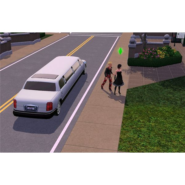 The Sims 3 prom limo