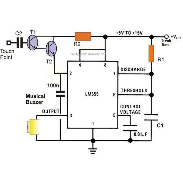 wireless circuit using 555 circuit and explanation wiring diagrams u2022 rh autonomia co 555 Timer Tutorial Simple 555 Timer Projects