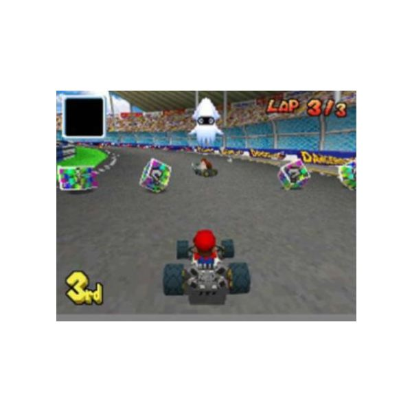 Mario Kart DS allows you to race other gamers online.