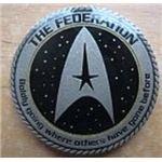 Star Trek related THE FEDERATION Geocoin