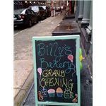 Grand opening sign, Billy's Bakery