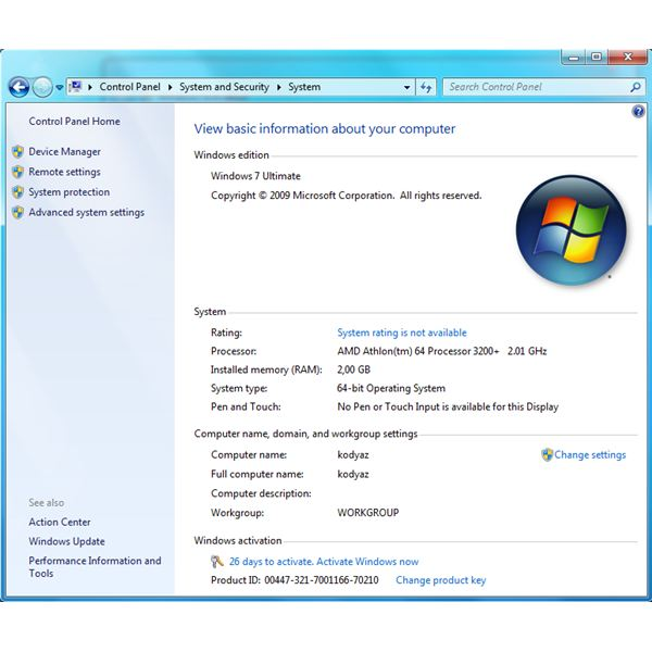how to activate a product key for windows 7