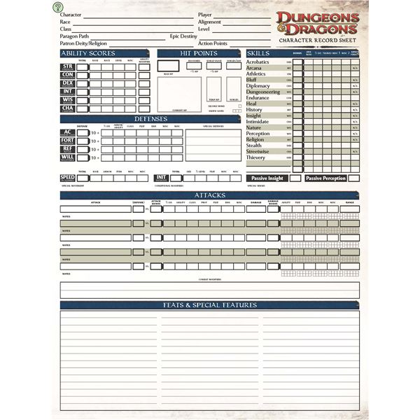 photograph regarding Dungeons and Dragons Printable Character Sheet named Come across Printable DD Individuality Sheets in direction of Boost Your Match Consultation