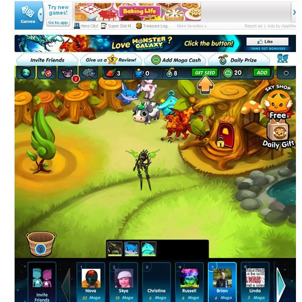 Facebook Monster Games Monster Galaxy Review