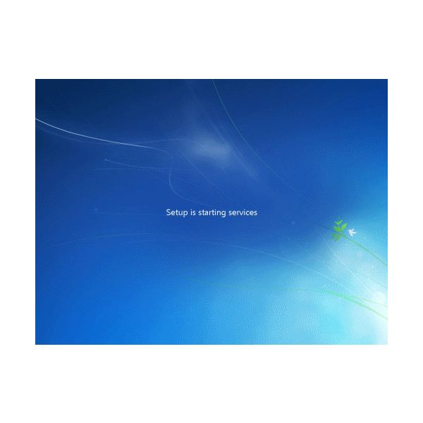 Windows-7 Starting Services