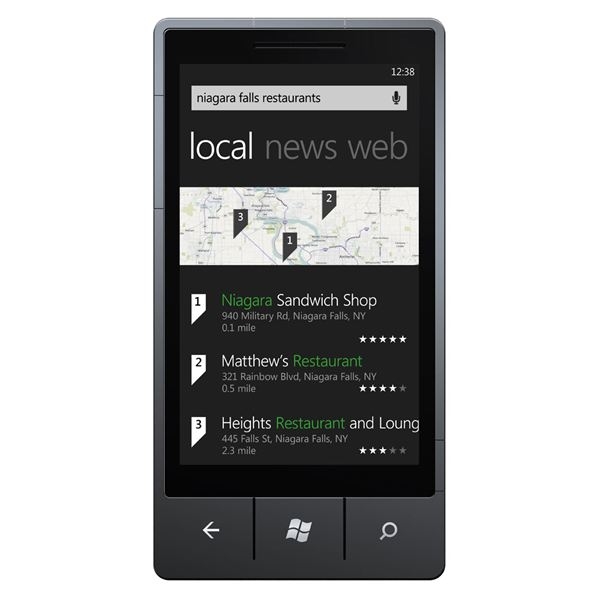 Windows Phone 7 Bing search