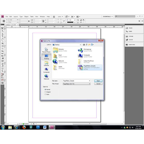 Adobe InDesign CS4 can open and automatically convert PageMaker 6 and 7 publications.